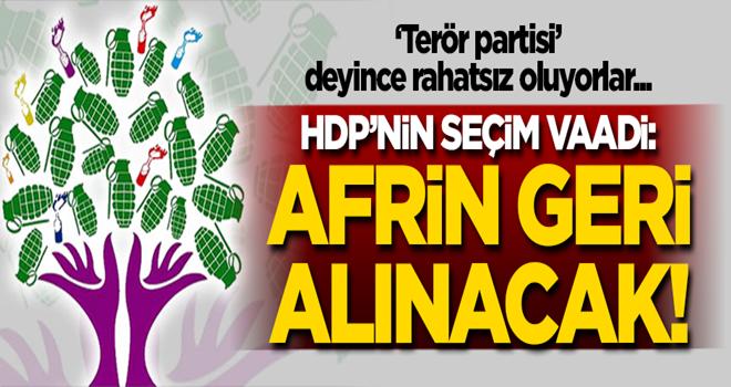 HDP'nin skandal seçim vaadi: Afrin'i geri alacağız