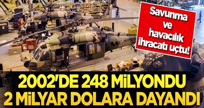 Savunma ve havacılık ihracatı uçtu! 2002'de 248 milyondu, 2 milyar dolara dayandı