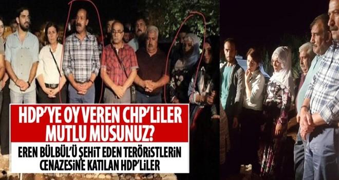 Terörist cenazesine katılan HDP'li vekiller