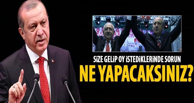 Cumhurbaşkanı Erdoğan: Ne yapacaksınız?