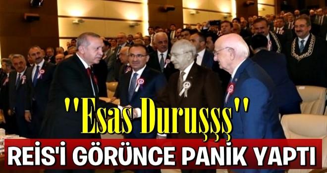 Erdoğan'ı karşısında gören Bay Kemal panik yaptı!
