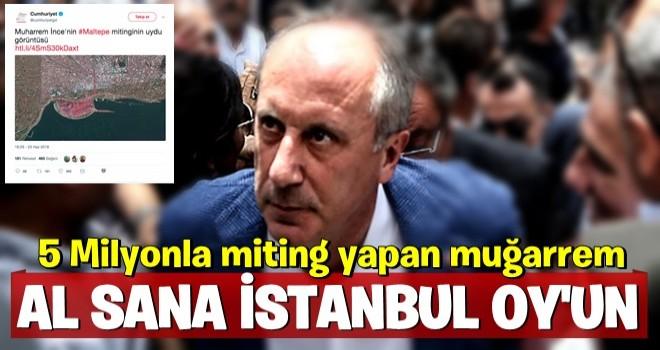 Muharrem İnce İstanbul'da da hezimeti yaşadı
