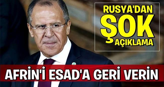 Rusya'dan tartışma yaratacak açıklama!