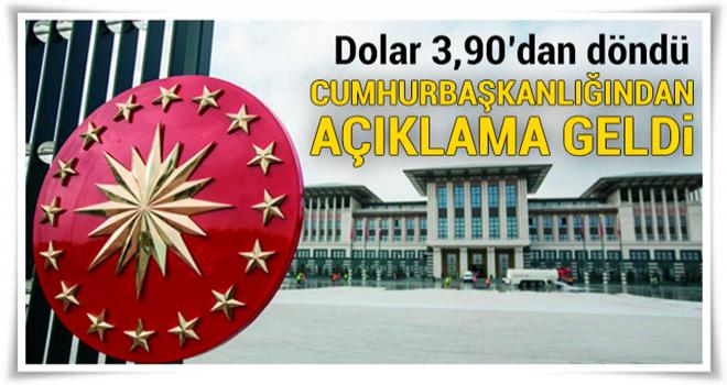Cumhurbaşkanı Sözcüsü Ertem'den dolar açıklaması