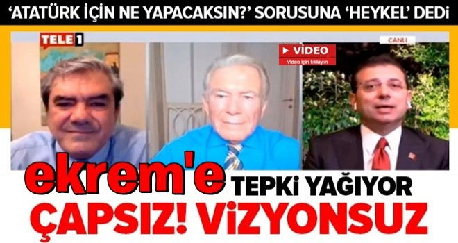 CHP'nin heykel sevdası bitmiyor! Ekrem : Atatürk'ün vasiyeti üzerine Fatih Sultan Mehmet heykeli yapacağız .