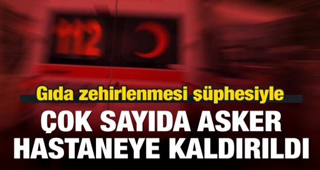 Antalya'da çok sayıda asker hastaneye kaldırıldı