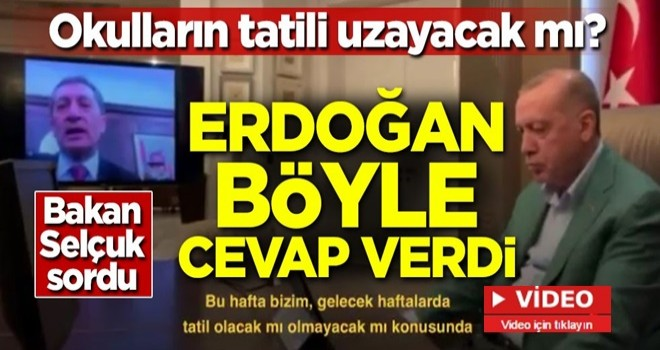 Okul tatili uzayacak mı? Başkan Erdoğan'dan videolu mesaj