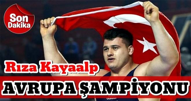 Rıza Kayaalp, Avrupa şampiyonu oldu