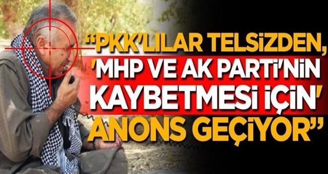 Mahir Ünal: PKK'lılar, AK Parti ve MHP'nin kaybetmesi için telsizden anons geçiyor