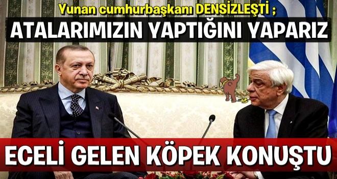 Yunan Cumhurbaşkanına sert tepki!