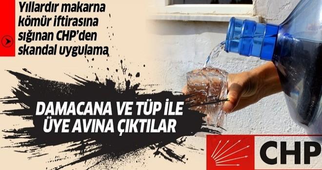 CHP'den Çeşme'de skandal uygulama: Damacana su ve tüp ile üye avına başladılar