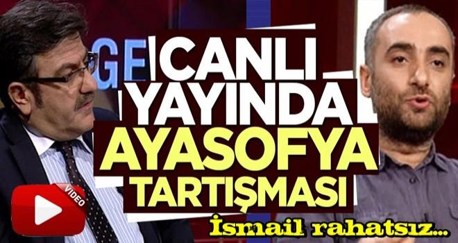 Canlı yayında Hacısalihoğlu ve ismail arasında Ayasofya tartışması çıktı