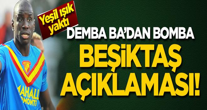 Demba Ba'dan bomba 'Beşiktaş' açıklaması!