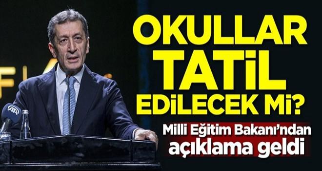 Türkiye'de okullar tatil edilecek mi? Milli Eğitim Bakanı'ndan açıklama geldi