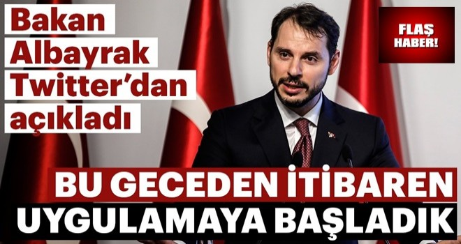 Bakan Berat Albayrak Twitter'dan açıkladı: Aksiyon planımızı uygulamaya başladık