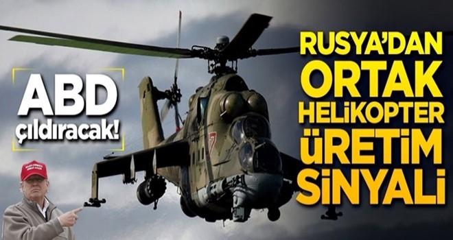 Rusya'dan Türkiye ile ortak helikopter üretimi sinyali!