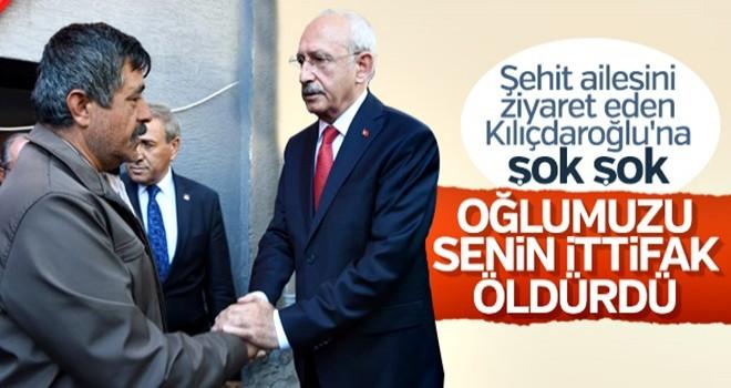 Eskişehir'de şehit yakınından Kılıçdaroğlu'na sert tepki