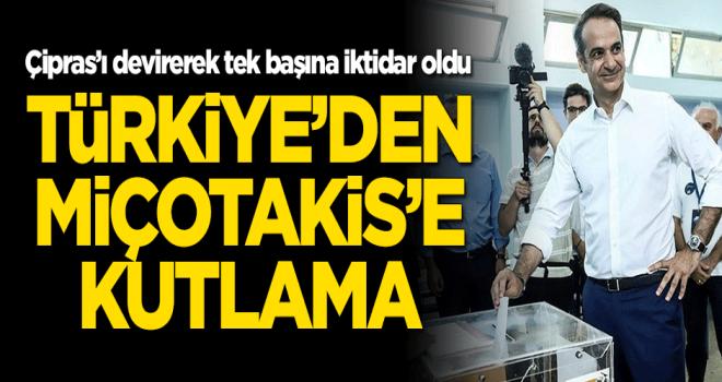 Türkiye'den Miçotakis'e kutlama mesajı