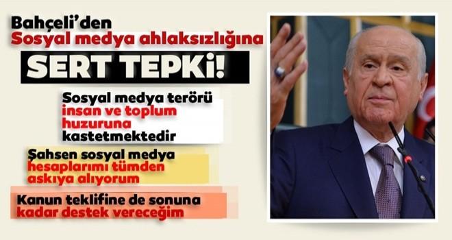 MHP Genel Başkanı Bahçeli'den Albayrak ailesine yapılan çirkin saldırılara tepki ve sosyal medyaya boykot!