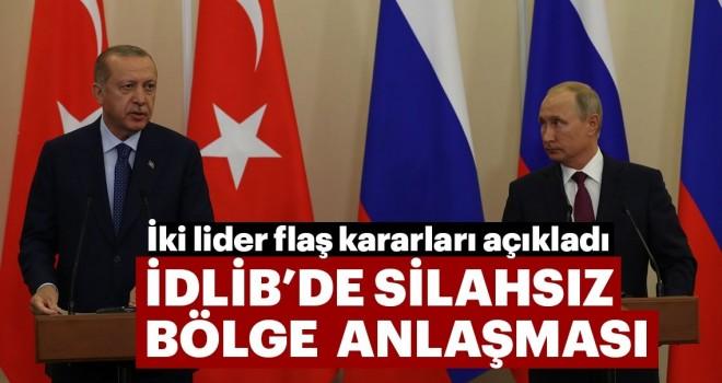Son dakika: Soçi Zirvesi sonrası Başkan Erdoğan ve Putin'den flaş açıklamalar