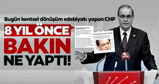 Bugün kentsel dönüşüm diyen CHP, 2012'de kentsel dönüşüm yasasını AYM'ye götürdü!