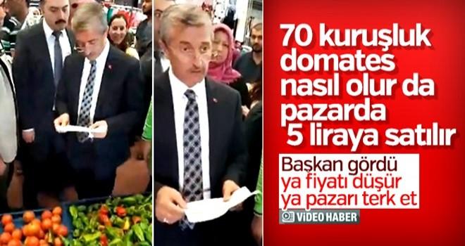 Domatesi 70 kuruşa alıp 5 liraya satan pazarcıya uyarı