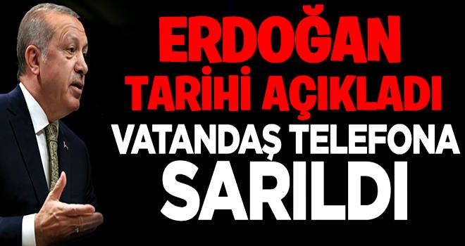 Erdoğan 'erken seçim' kararını açıkladı, vatandaş telefona sarıldı