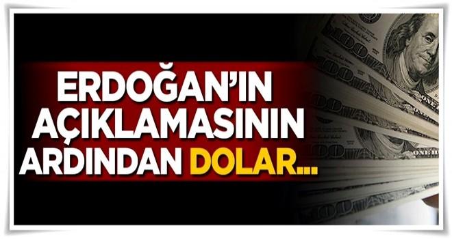 Erdoğan'ın açıklamasının ardından dolar...