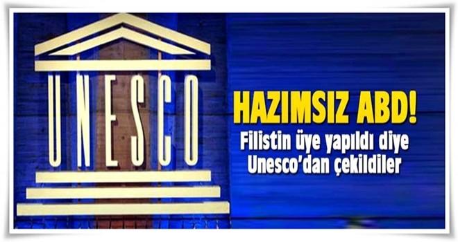 ABD, Filistin'in üyeliğinden rahatsız oldu, UNESCO'dan çekildi