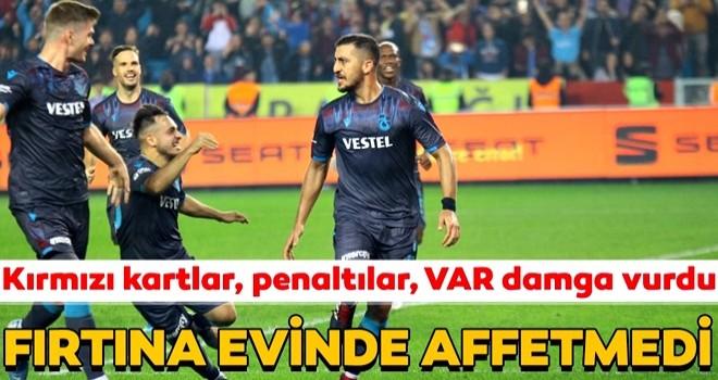 10 kişi kalan Trabzonspor'dan kritik galibiyet