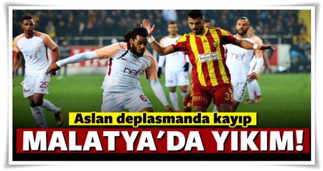 Galatasaray Malatya'da kaybetti
