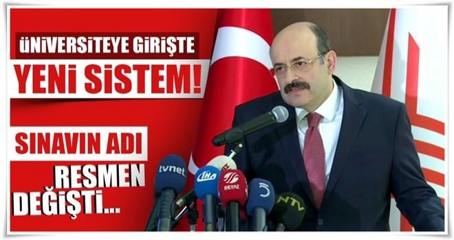 Son dakika... YÖK Başkanı Saraç açıkladı: Yeni sınavın adı Yükseköğretim Kurumları Sınavı olacak!