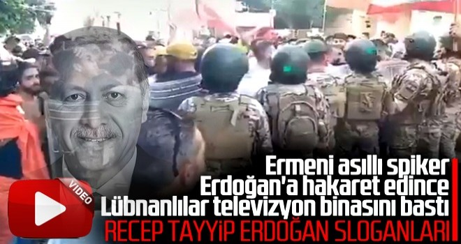 Türkiye'ye hakaret edilen Lübnan kanalı protesto edildi