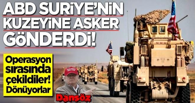 ABD Suriye'nin kuzeyine asker gönderdi