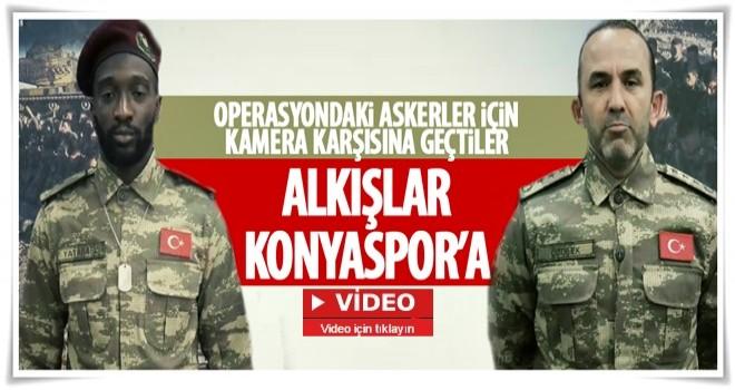 Konyaspor'dan asker kıyafetli dua