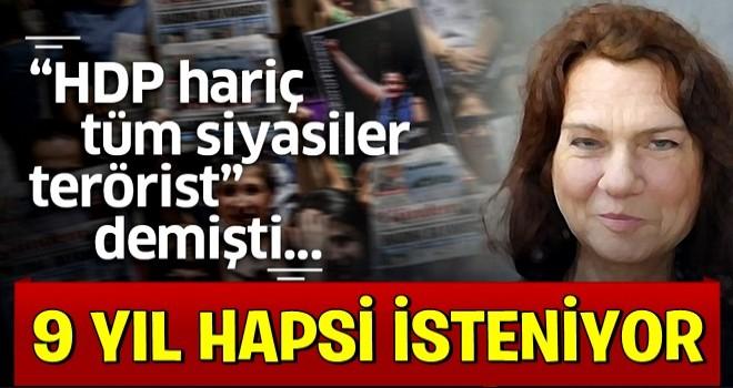 Kapatılan Özgür Gündem davasında yazar Aslı Erdoğan'ın 9 yıla kadar hapsi istendi.