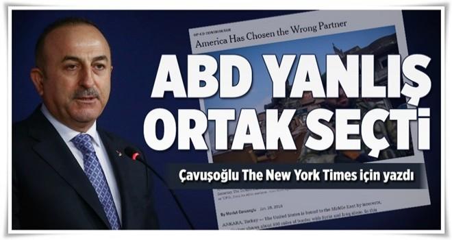 Çavuşoğlu The New York Times için yazdı .