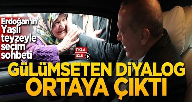 Başkan Erdoğan'dan yaşlı teyzeyle seçim sohbeti! Güldüren diyalog ortaya çıktı