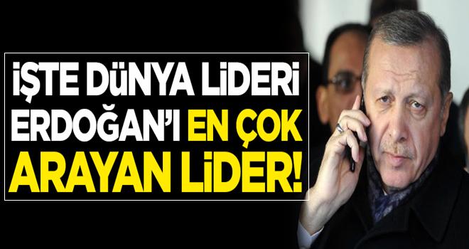 İşte dünya lideri Erdoğan'ı en çok arayan devlet başkanı