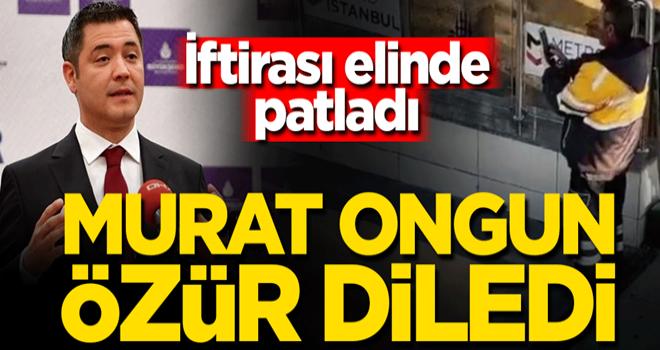 İftirası elinde patlayan İBB Sözcüsü Murat Ongun, AK Partili Çekmeköy Belediyesi'nden özür diledi