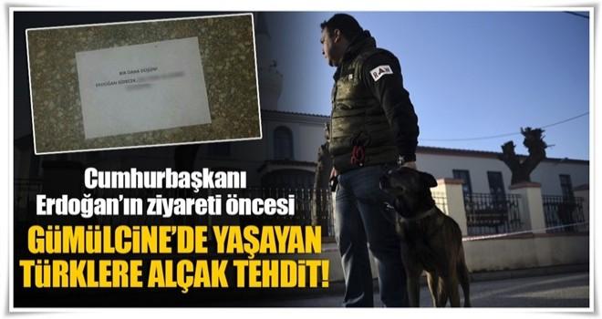 Yunanistan'da Türk vatandaşlara alçak tehdit!