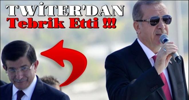 Törene katılmamıştı... Davutoğlu'ndan Erdoğan'a tebrik mesajı