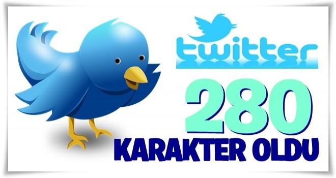 Twitter tamamen 280 karakter