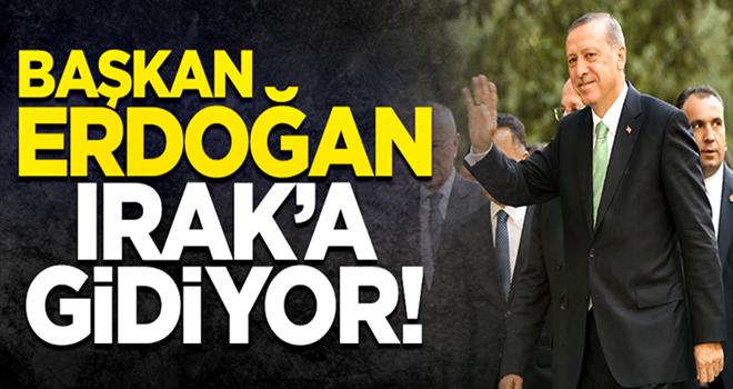 Cumhurbaşkanı Erdoğan, Irak'ı ziyaret edecek