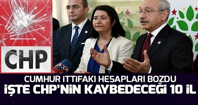 İşte CHP'nin kaybedeceği iddia edilen o iller! .