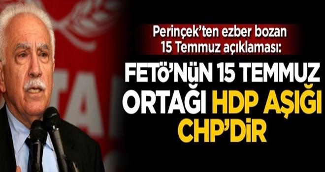 Perinçek'ten ezber bozan 15 Temmuz açıklaması