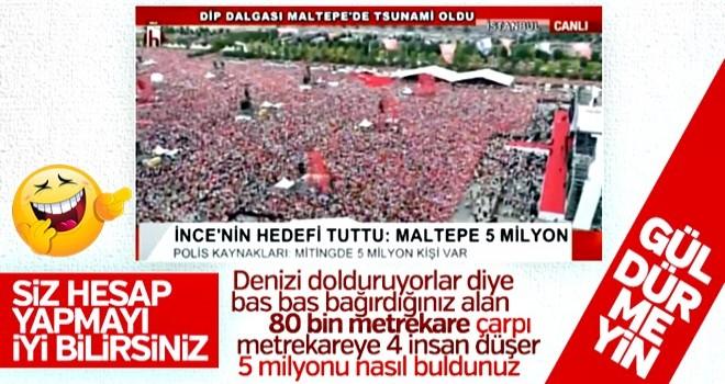 Halk TV güldürdü: Maltepe'yi 5 milyon kişi doldurdu