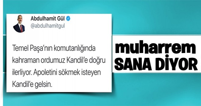 Abdulhamit Gül'den Muharrem İnce'ye muhteşem kapak