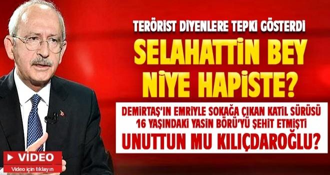 Kemal'den skandal açıklama: Demirtaş terörist değil !!