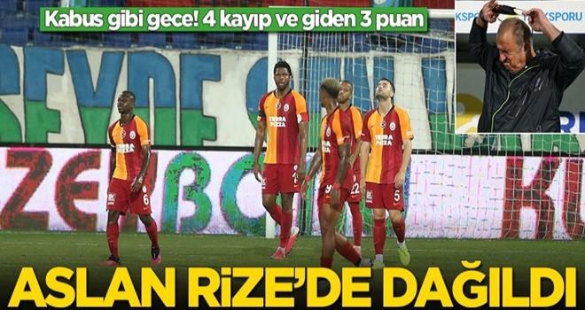 Galatasaray, Çaykur Rizespor karşısında dağıldı
